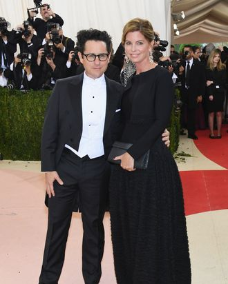 J.J. Abrams and Katie McGrath at the Met Gala.