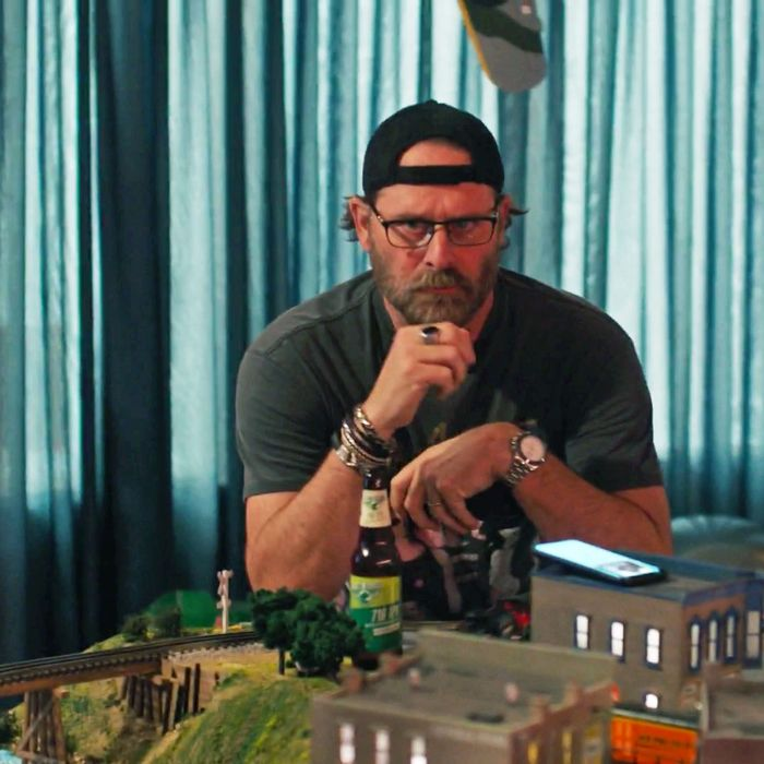 Gordon Klein (Jeffrey Nordling) with his train set in Big Little Lies season two.