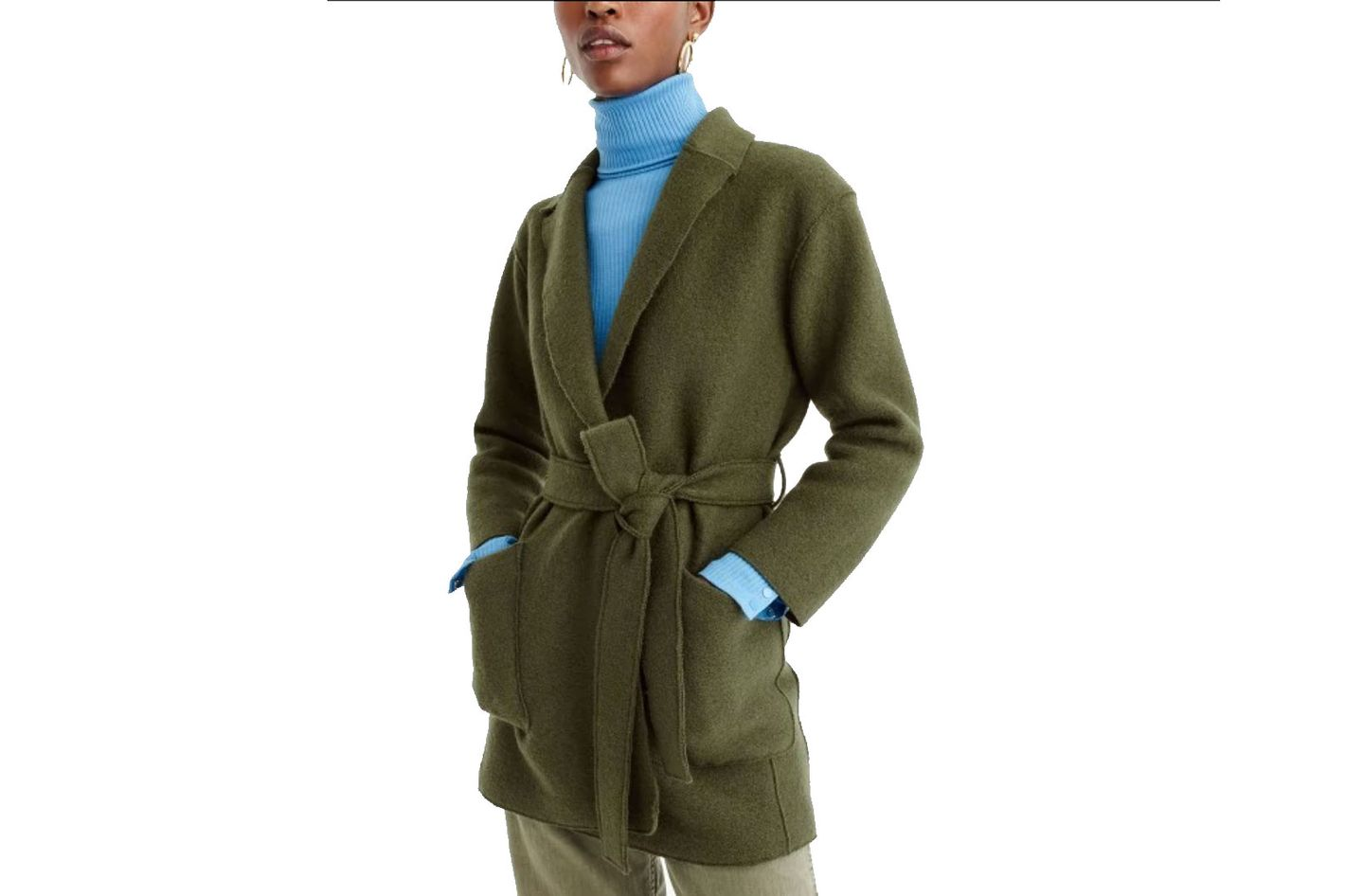 J.Crew Sabrina Boiled Wool Wrap Coat