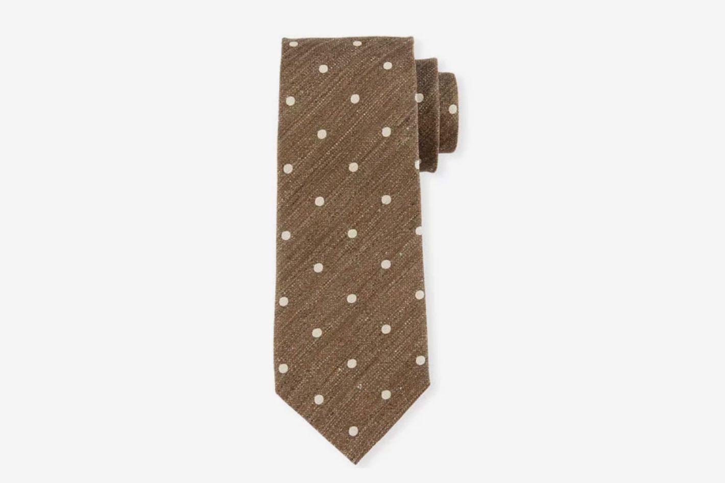 Tom Ford Textured Polka Dot Tie
