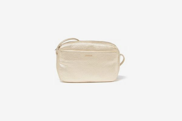 Baggu Mini Leather Purse in Platinum