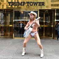 Trump On Route Outdoor Performance Piece
