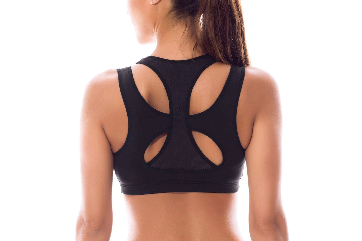 49a59382af SYROKAN Women's High Impact Support Wirefree Workout Racerback Sports Bra  Top