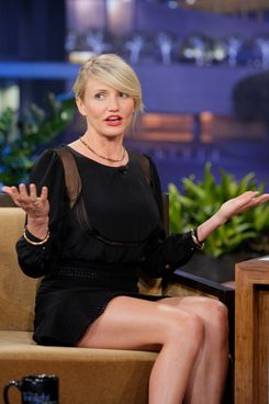 THE TONIGHT SHOW WITH JAY LENO -- Episode 4243 -- Pictured: Actress Cameron Diaz