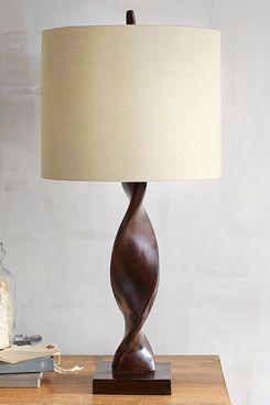 Brown Twist Table Lamp