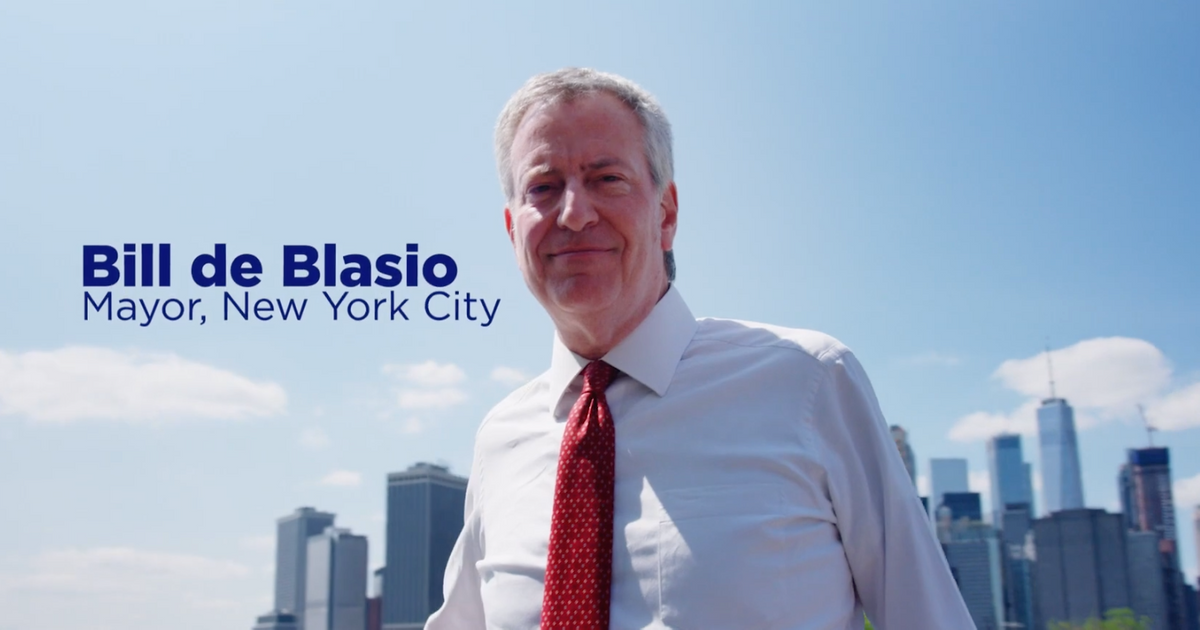 De Blasio Launches 2020 Bid by Touting What He's Done for New Yorkers Who Don't Want Him to Run