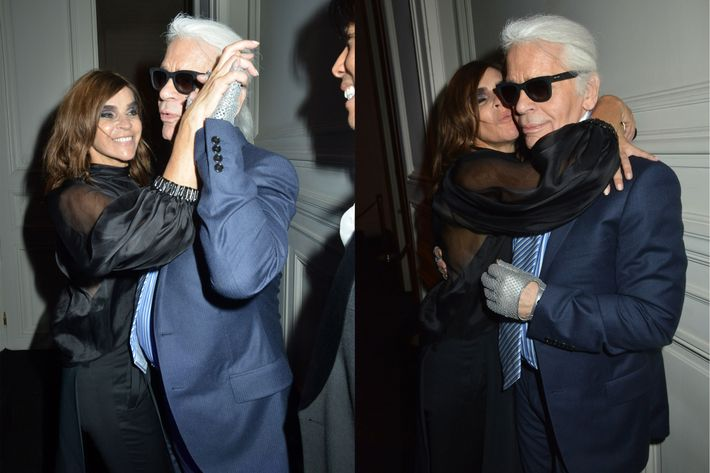 Karl Lagerfeld's drive-by.