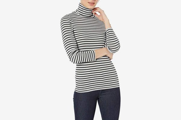 Splendid 1x1 Rib Long Sleeve Turtleneck Tee T-Shirt