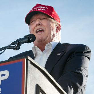 GOP Presidential Candidate Donald Trump Campaigns In Sacramento