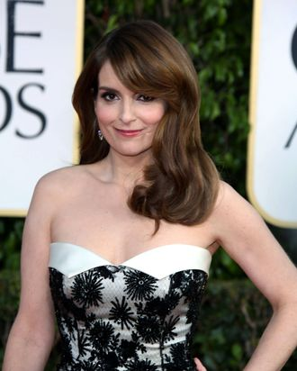 Actress Tina Fey arrives at the 70th Annual Golden Globe Awards presented by the Hollywood Foreign Press Association, HFPA, at Hotel Beverly Hilton in Beverly Hills, USA, on 13 January 2013. Photo: Hubert Boesl