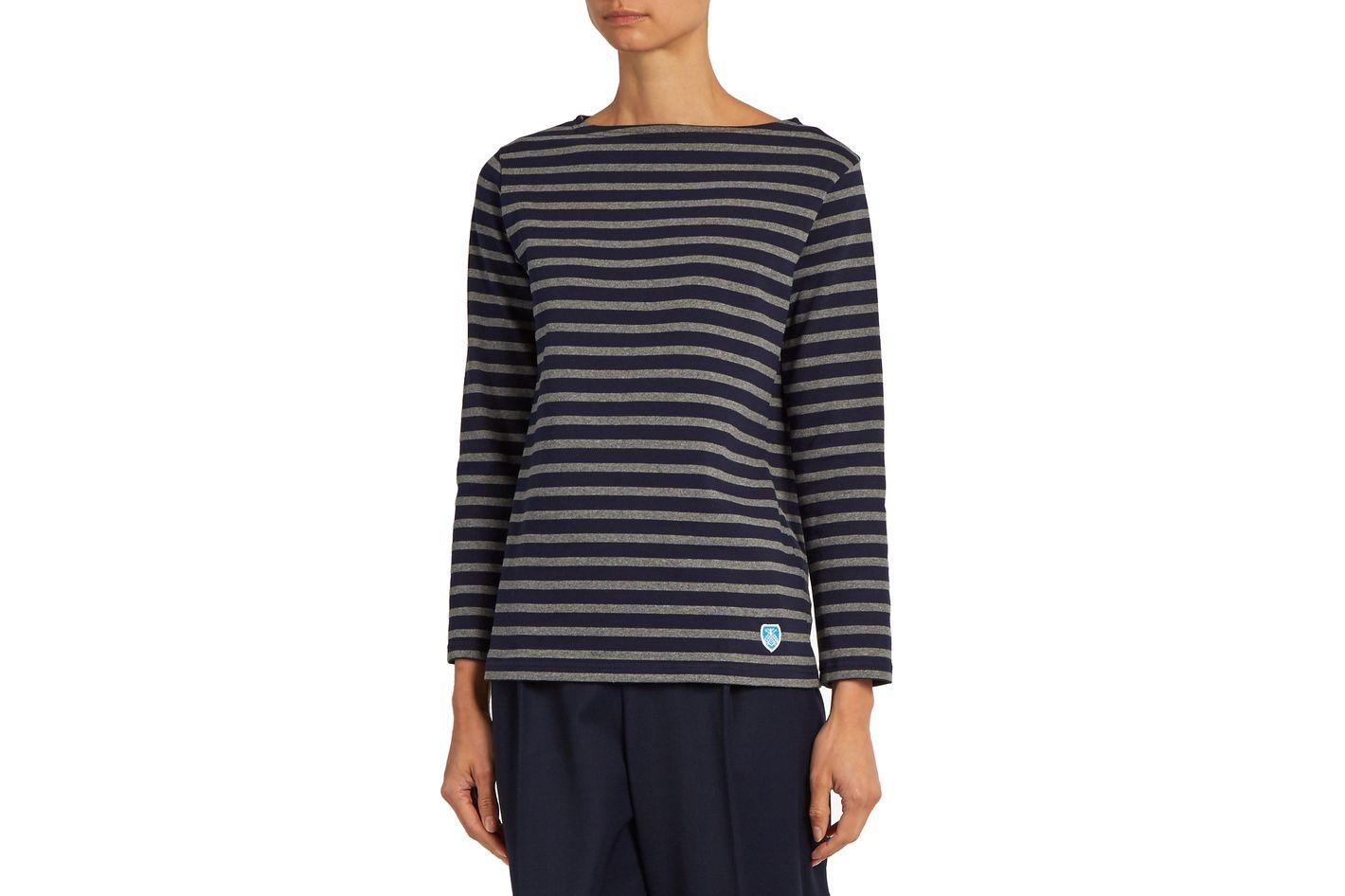 Orcival Breton-Striped Cotton Top