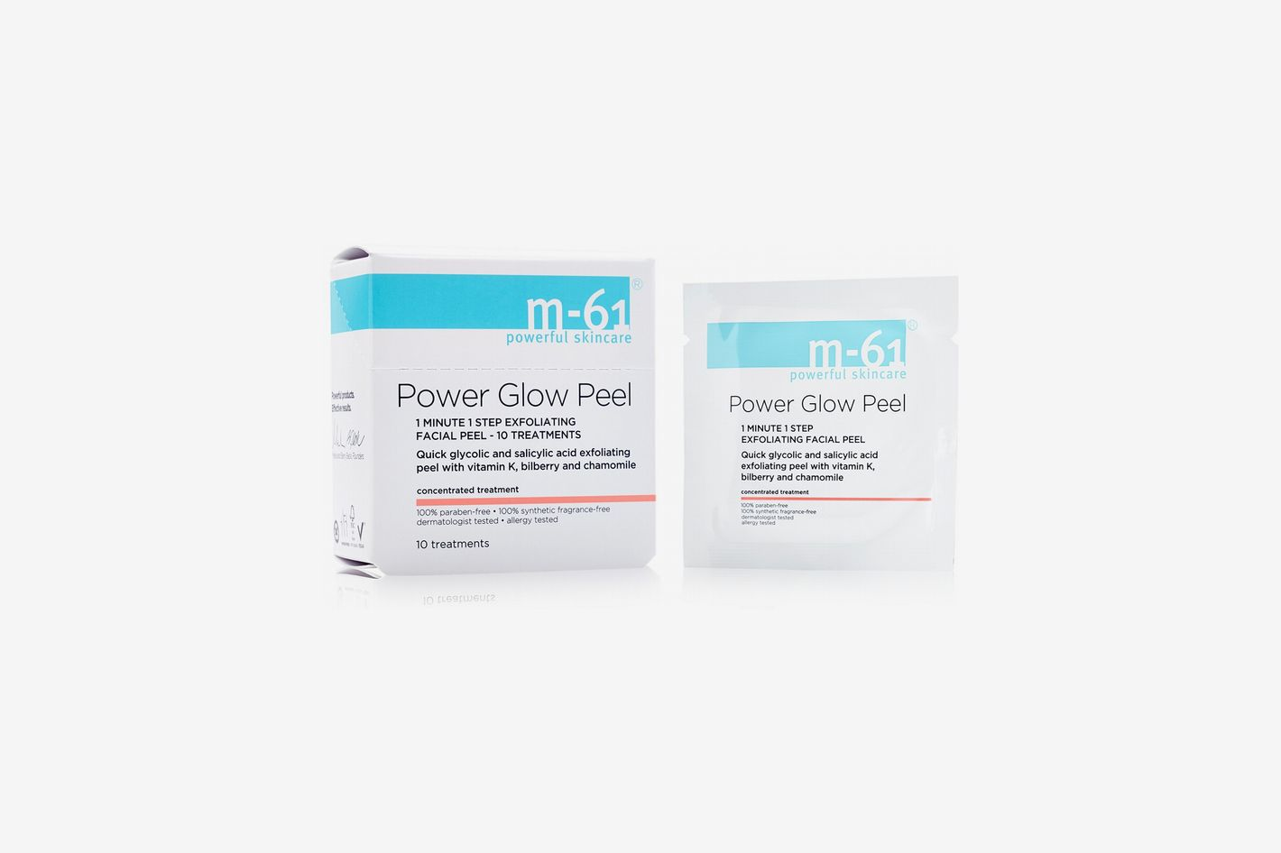 m-61 by Bluemercury PowerGlow Peel 1-Minute 1-Step Exfoliating Facial Peel — 10 Treatments