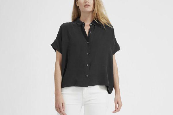 Everlane Silk Short-Sleeve Square Shirt