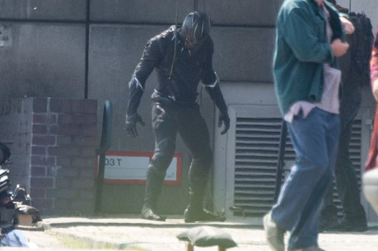 "Marvel character Black Panther is seen in ""Captain America Civil War"" film set in Berlin"