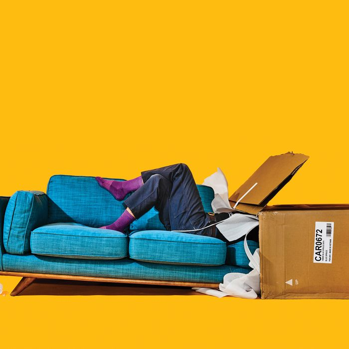 Sofa-in-a-box. Photo  Bobby Doherty New York Magazine 42f3d220ea