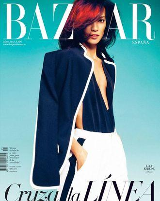 Liya Kebede for <em>Harper's Bazaar</em> Spain.
