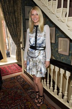 Gwyneth Paltrow poses at Goop's party to launch the summer season, at Mark's Club on May 21, 2013 in London, England.