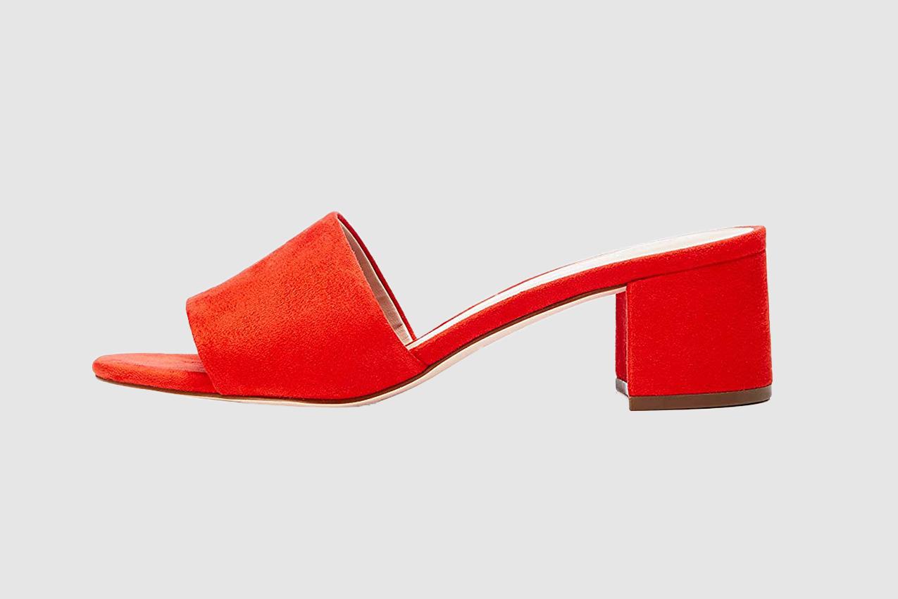 find. Block Heel Mule Open-Toe Sandals