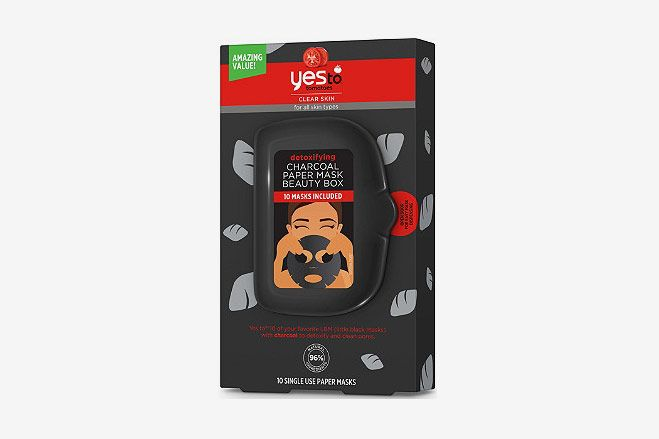 Yes to Tomatoes Detoxifying Charcoal Paper Mask Beauty Box (10 Pack)
