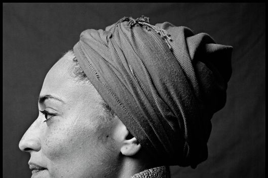 English novelist Zadie Smith poses for a portrait session in December 2008, New York, NY.