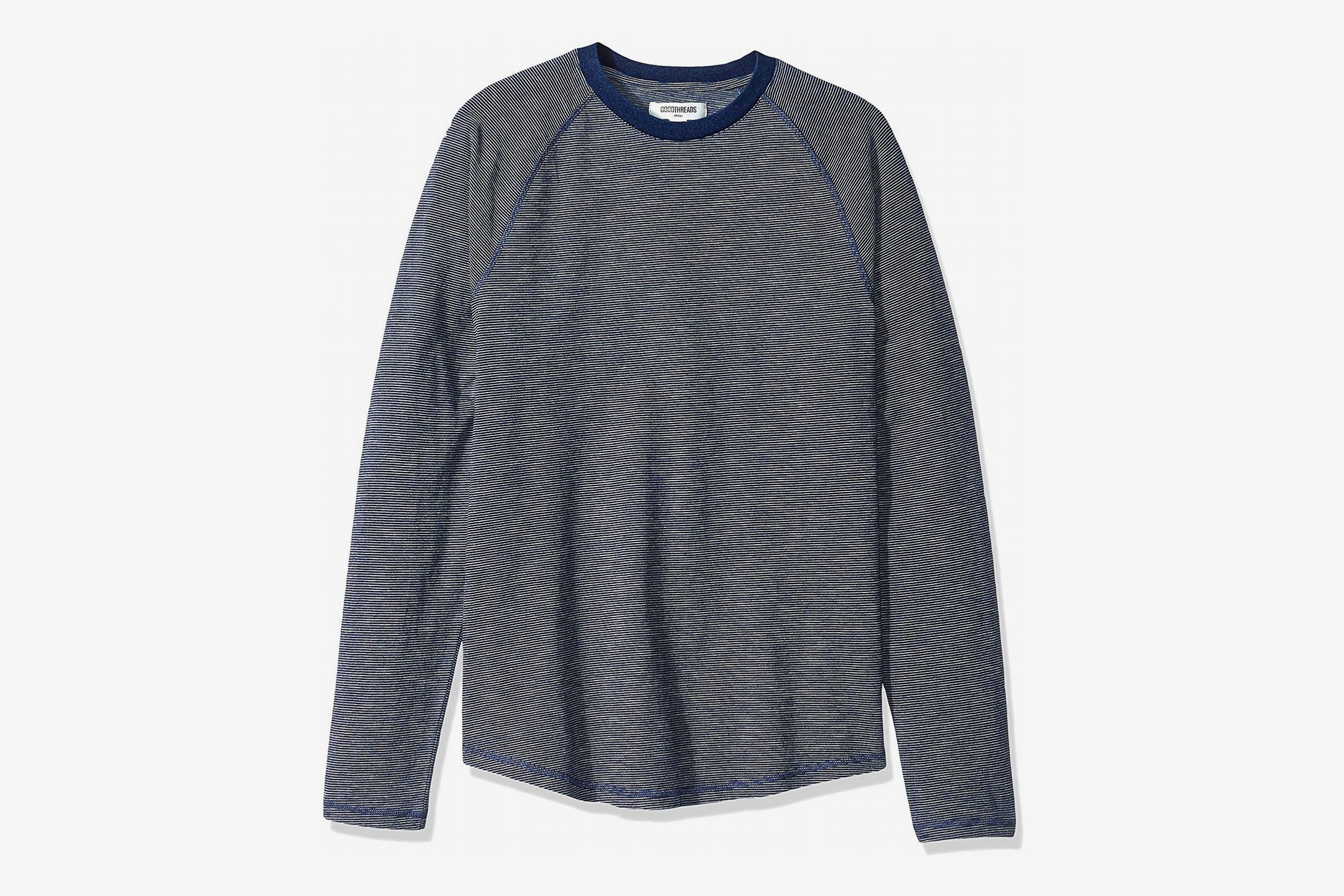 Goodthreads Men's Long-Sleeve Indigo Raglan T-Shirt