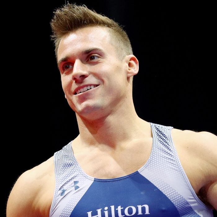 Sam Mikulak, who would much rather be shirtless.