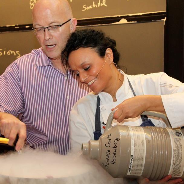 Kaanache with White House chef Bill Yosses.