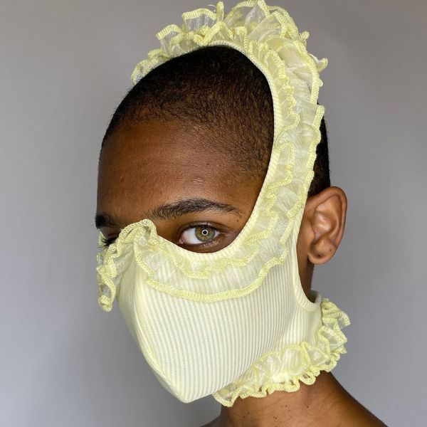 Ruffle Face Mask