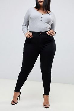 ASOS DESIGN Curve Ridley High Waisted Skinny Jeans