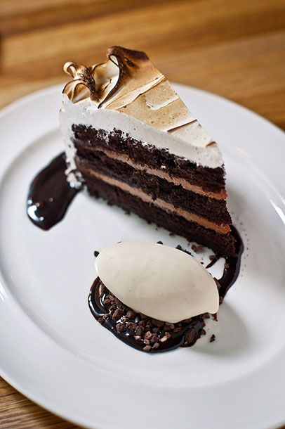 "<b>Devil's Food Cake</b>     <a href=""http://nymag.com/listings/restaurant/the-dutch/"">The Dutch</a>     <i>131 Sullivan St., New York, NY; 212-677-6200</i>   The Dutch dessert program is all about the pie. In fact, chef and owner Andrew Carmellini even once said that ""the heart of The Dutch is pie."" And yet, this cake, well, takes the cake. ""The devils food cake is downright awesome,"" says Mile End owner Noah Bernamoff. Even Carmellini would have trouble arguing against the black-pepper icing, White-Russian ice cream (the Dude abides), and rich fudge concoction."