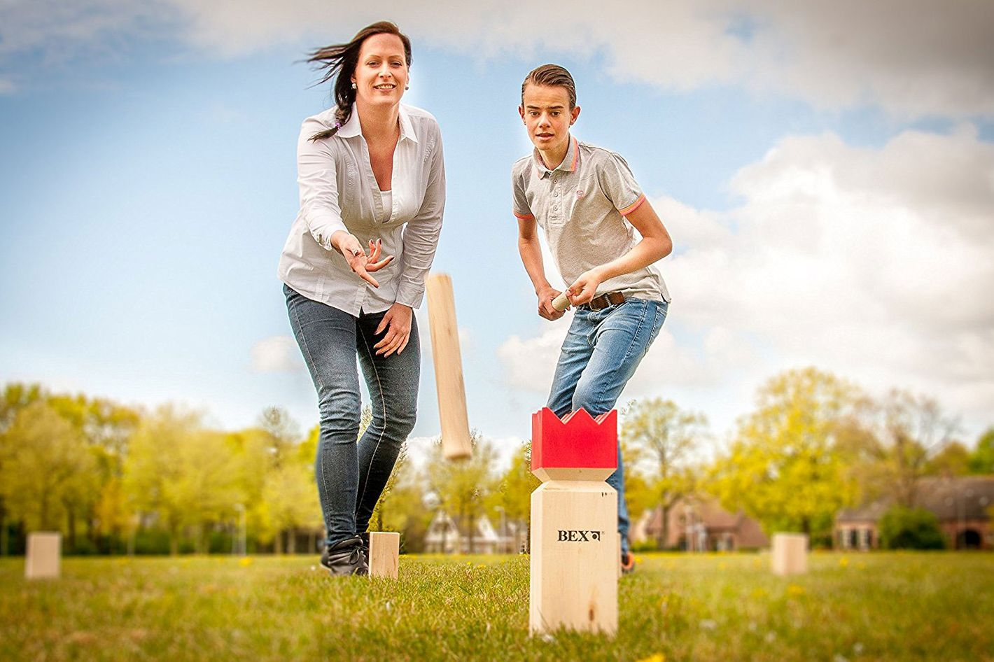 Bex Sports Kubb Game Original Red King