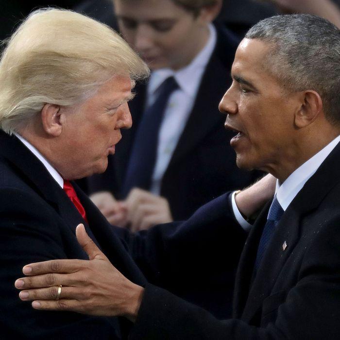 1e606a66803 Donald Trump and Barack Obama. Photo  Chip Somodevilla Getty Images