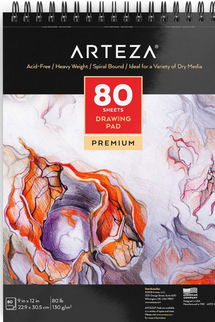 Arteza Drawing Pad, 9 x 12 Inches