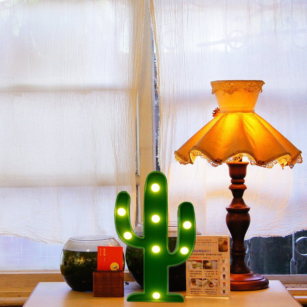 LED Cactus Light, YiaMia Cute Night Table Lamp