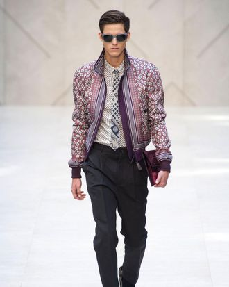 A look from Burberry's spring 2013 collection.