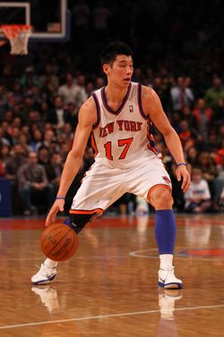 NEW YORK, NY - MARCH 16:  Jeremy Lin #17 of the New York Knicks in action against the during their game at Madison Square Garden on March 16, 2012 in New York City.  (Photo by Al Bello/Getty Images) *** Local Caption *** Jeremy Lin