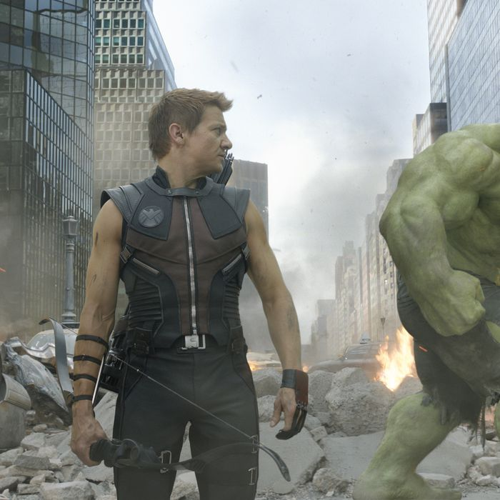 """Marvel's The Avengers""L to R: Hawkeye (Jeremy Renner) and Hulk (Mark Ruffalo)."