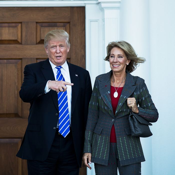Conflicts Of Devos Donald Trump Betsy >> Testy Moments From Trump S Education Pick S Senate Hearing