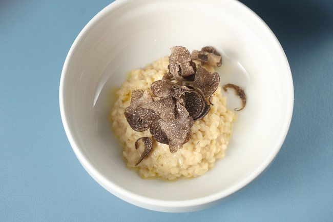 Café Clover opens tonight with this unique take on truffled risotto.