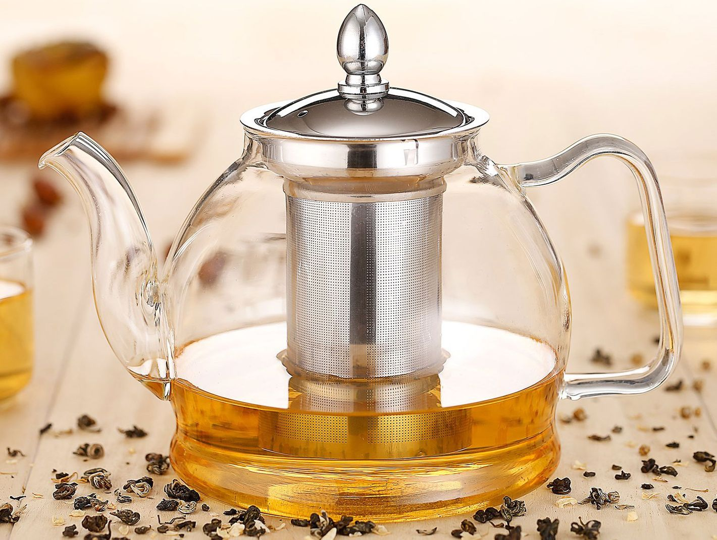 Hiware 1000ml Glass Teapot With Removable Infuser