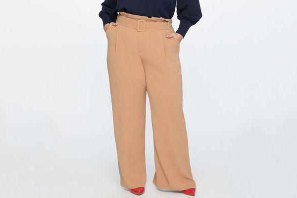 Paperbag Waist Wide Leg Pant