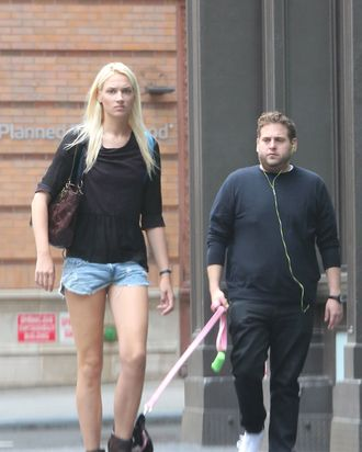 Jonah Hill and a woman.