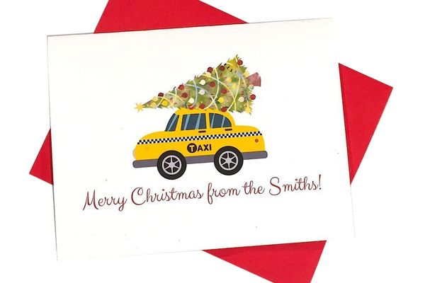 Personalized Christmas Cards — Custom New York City Holiday Card DM510