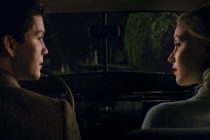 Logan Lerman and Sarah Gadon in the new film <i>Indignation</i>.