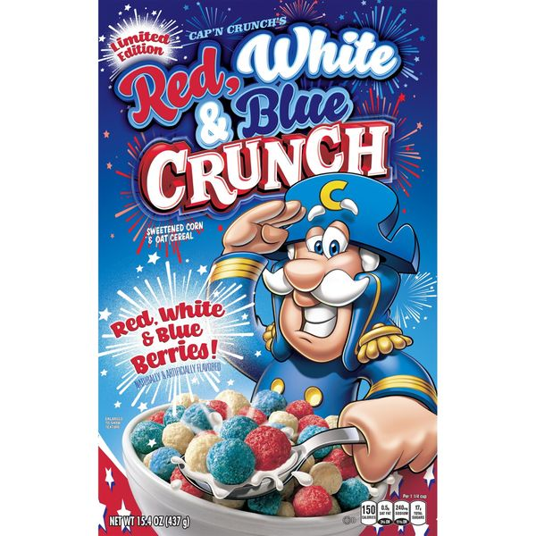 Cap'n Crunch Cereal, Red White & Blue Crunch