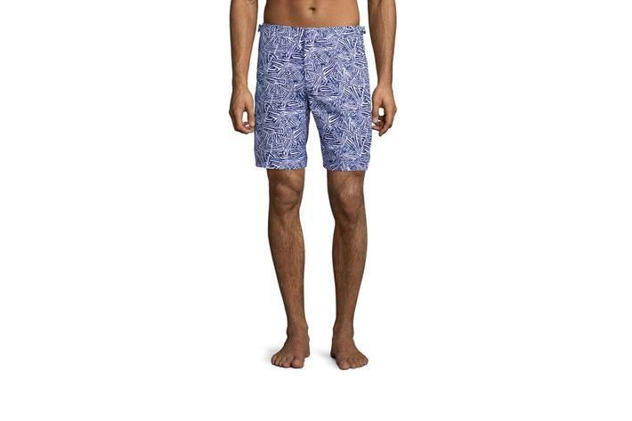 "c0bf2be41c Dane Swim Trunks by Orlebar Brown ""The Dane is the longest trunk that  Orlebar Brown offers — with a ten-inch inseam — and it will hit just above  the knee ..."