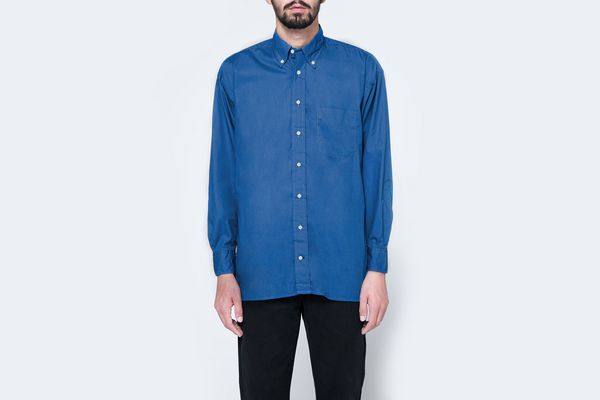 Gitman Brothers Vintage Oversized Blue Poplin Shirt