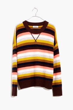 Cashmere Sweatshirt in Reedham Stripe