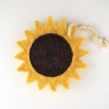 Tiny Yellow Bungalow Sunflower Natural Kitchen Loofah Scrubber