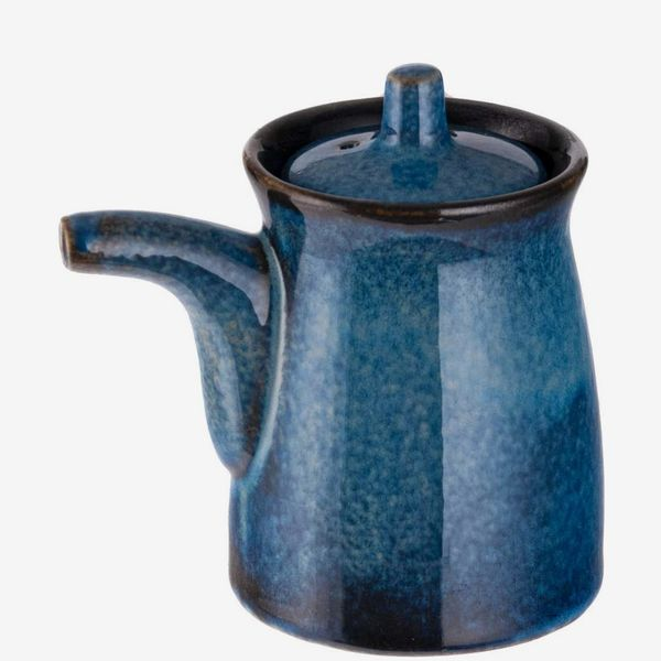 Happy Sales Japanese-Style Earthenware Ceramic Soy Sauce Dispenser